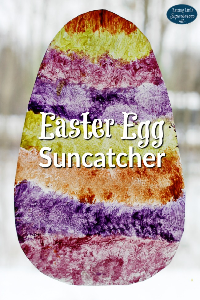 Easter Egg Suncatcher, Crafts for Kids, Easter Crafts for Kids, Suncatcher Crafts