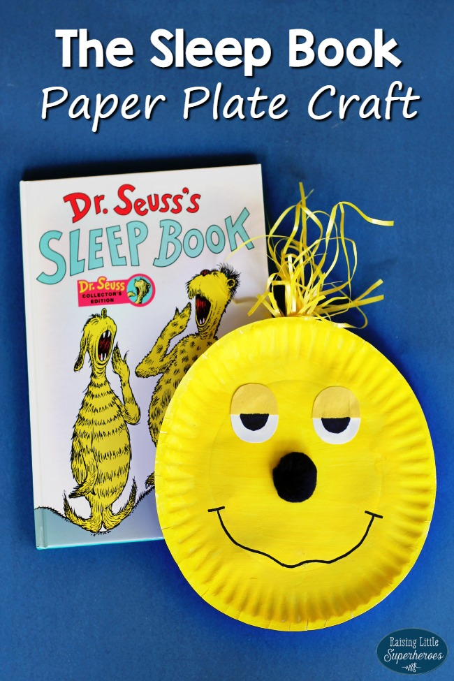The Sleep Book Paper Plate Craft, Book-Inspired Crafts for Kids, Crafts for Kids, Dr. Seuss Crafts