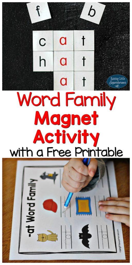 WordFamilyMagnetCollage