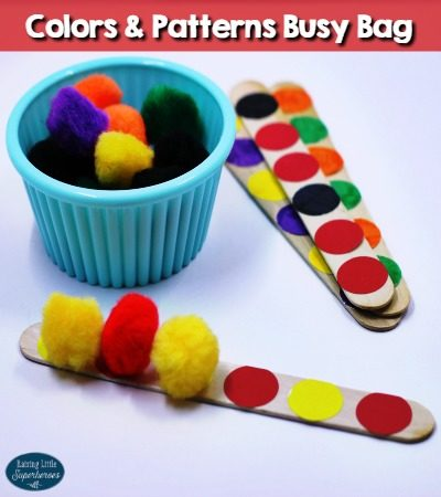 Colors and Patterns Busy Bag for Preschoolers