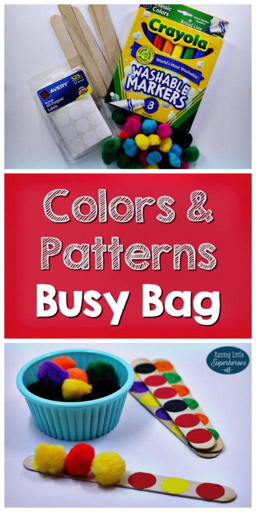 Colors and Patterns Busy Bag, Busy Bag, Preschooler Busy Bag, Busy Bags for Preschoolers, Colors Busy Bag, Patterns Busy Bag, Learning Activities, Preschool Learning Activities