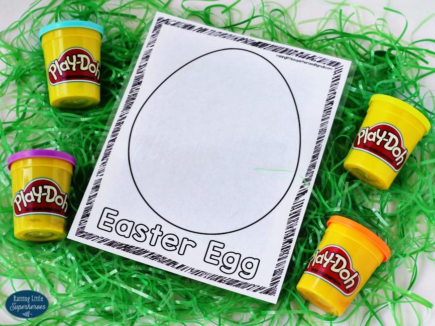 Play Dough Mats Easter Basket, Play Dough Easter Basket, Easter Basket Idea, DIY Easter Basket with Printables, Free Printable Play Dough Mats, Printable Play Dough Mats, Easter Play Dough Mats