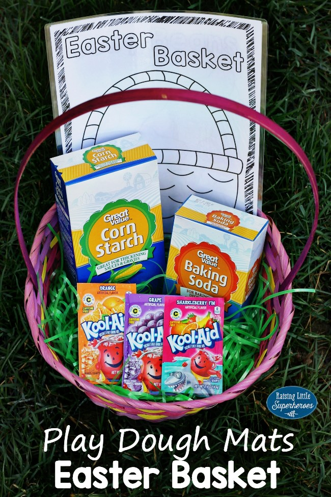 Play Dough Mats Easter Basket, Play Dough Easter Basket, Easter Basket Idea, DIY Easter Basket with Printables, Free Printable Play Dough Mats, Printable Play Dough Mats, Easter Play Dough Mats