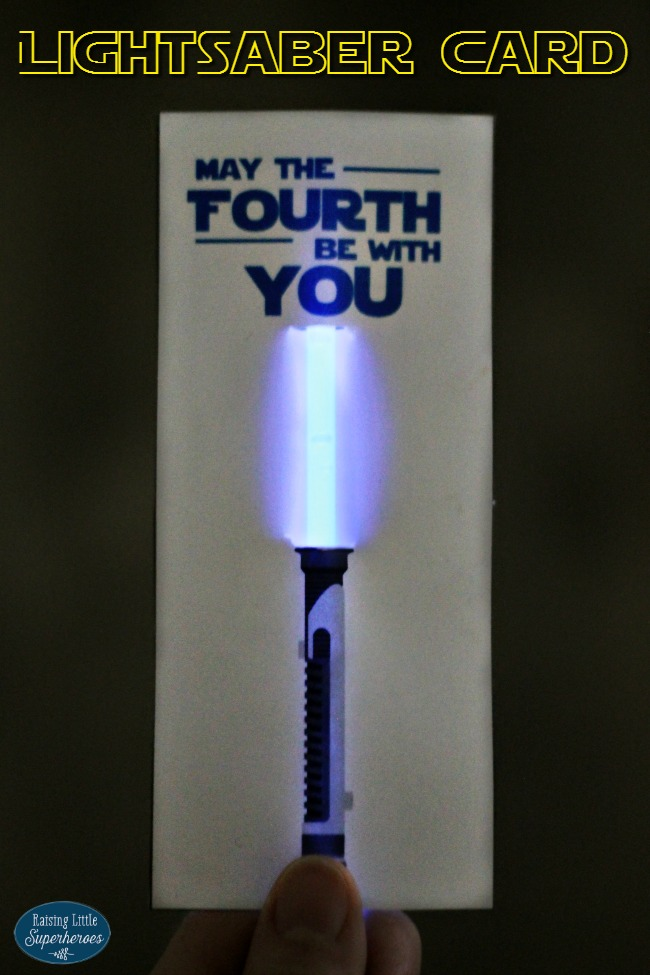 Lightsaber Card, May The Fourth Be With You, May The Fourth Be With You Card, Star Wars Day, Star Wars, Star Wars Day Card