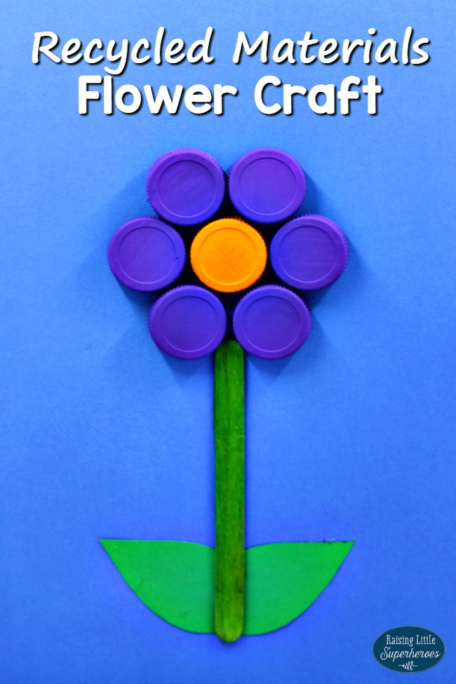 How To Make A Flower Craft From Recycled Materials