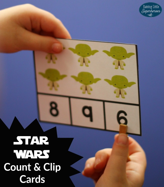 Star Wars Count and Clip Cards, Count and Clip Cards, May The Fourth Be With You, Star Wars, Star Wars Learning Activity