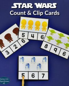 Star Wars Count and Clip Cards