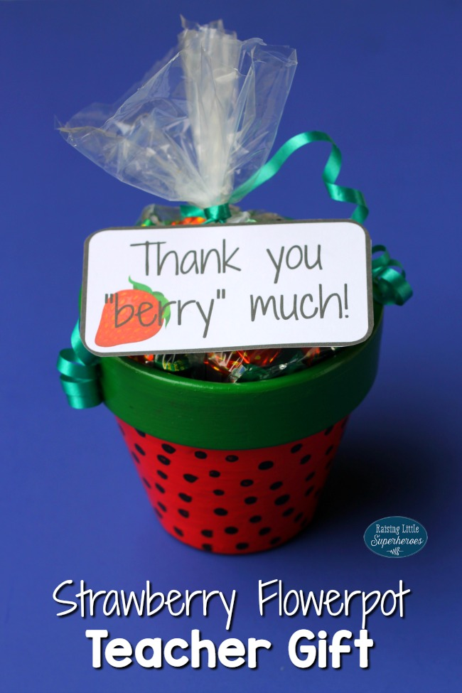 "Strawberry Flowerpot, Thank You ""Berry"" Much Strawberry Flowerpot, Teacher Gift, Teacher Appreciation Gift, Strawberry Flowerpot Teacher Appreciation Gift, Strawberry Flowerpot Teacher Gift"