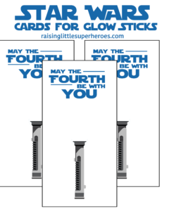 May The Fourth Be With You Lightsaber Card