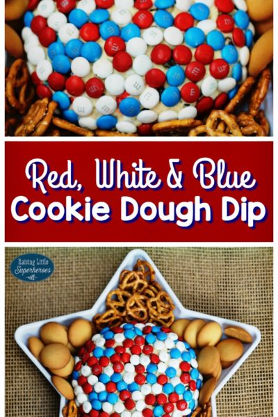 How To Make Red, White, and Blue Cookie Dough Dip
