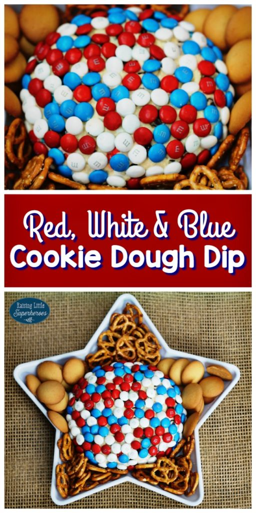 Cookie Dough Dip, Red White Blue Cookie Dough Dip, M and M Cookie Dough Dip, Cookie Dough, Simple Dessert Recipes