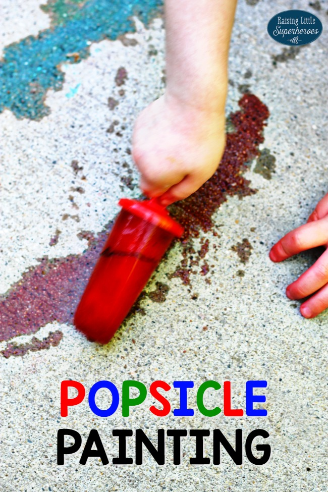 Popsicle Painting, Outdoor Activity for Kids, Summer Activity for Kids, Sensory Activity for Kids, Process Art
