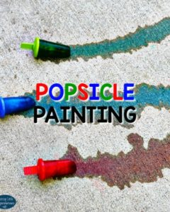Popsicle Painting: Outdoor Activity for Kids