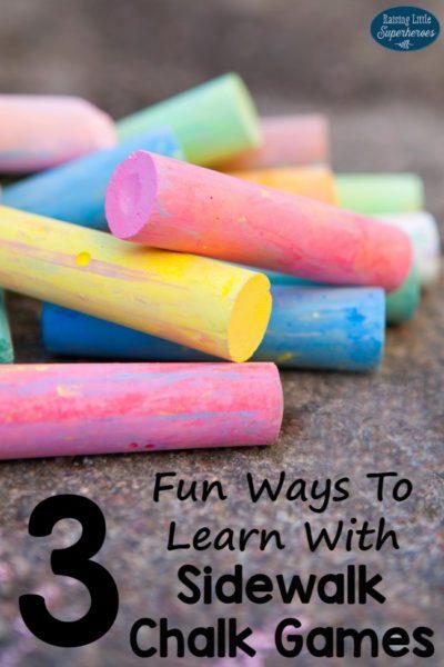 3 Fun Ways To Learn With Sidewalk Chalk Games