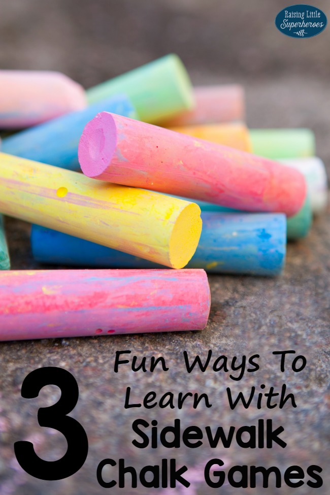 Sidewalk Chalk Games, Outside Activities, Summer Activities, Learning Activities