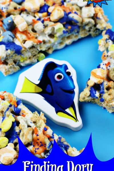 How To Make Finding Dory Marshmallow Treats