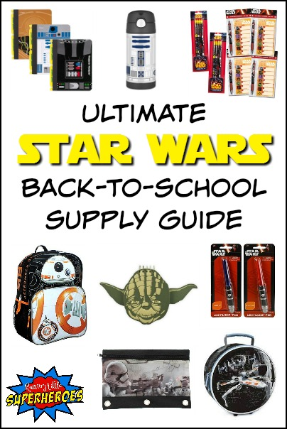 Star Wars Back To School Supply, Ultimate Star Wars Back To School Supply Guide, Back To School, Star Wars Back To School, Star Wars Supply Guide, Star Wars School Supplies