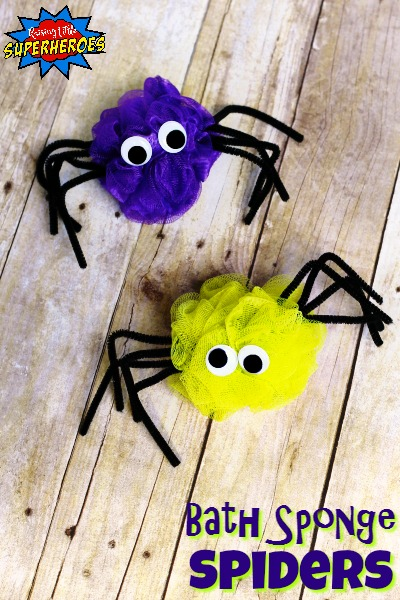 How To Make Creepy Crawly Bath Sponge Spiders