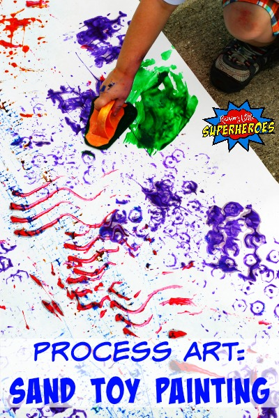 How To Create A Sand Toy Painting: A Process Art Activity