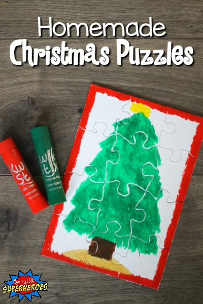 Homemade Christmas Puzzles, DIY Christmas Puzzles, Homemade Christmas Presents