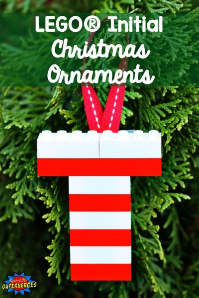 How To Make LEGO Initial Christmas Ornaments