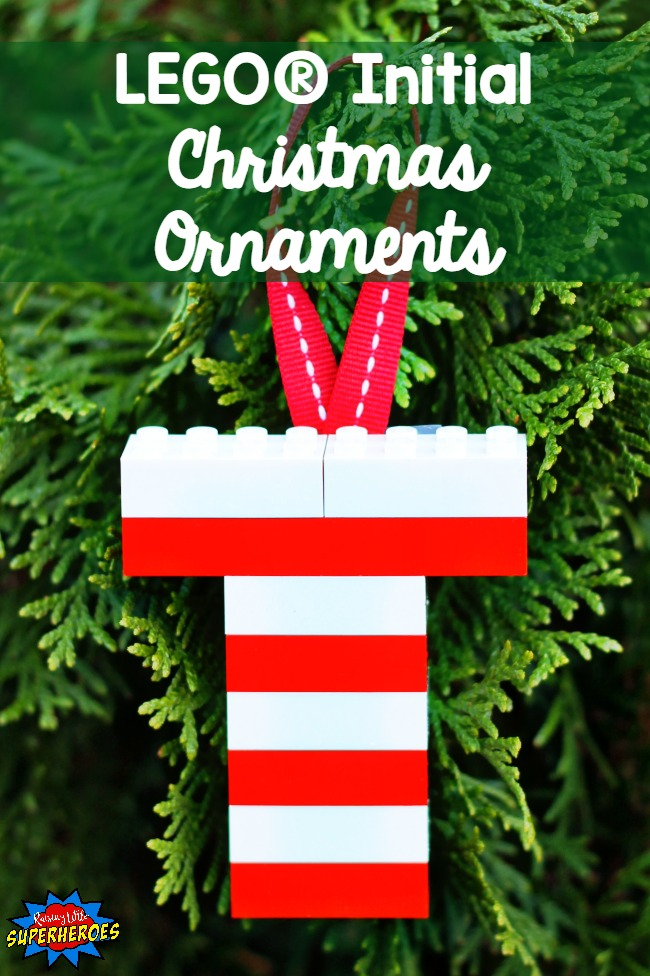 LEGO Initial Christmas Ornament, LEGO Ornament, Christmas Ornament, DIY Ornament, Homemade Ornament