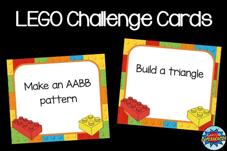 Over 100 Super Fun Lego Challenge Cards