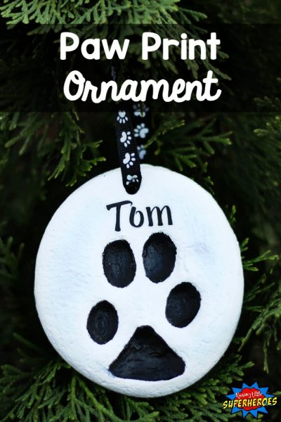 How To Make A Paw Print Christmas Ornament