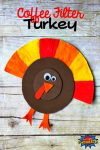 How To Make A Coffee Filter Turkey Craft for Thanksgiving