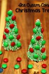 Ice Cream Cone Christmas Tree Treats